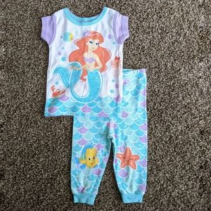 Disney Baby Little Mermaid Pajama Set 9 months